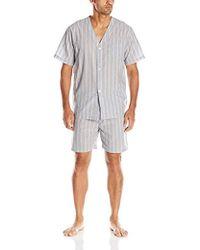 Geoffrey Beene - Broadcloth Short Sleeve Knee-length Pajama Set - Lyst