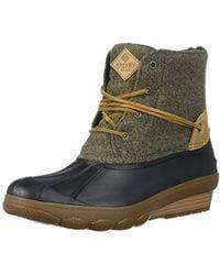 Sperry Top-Sider - Saltwater Wedge Tide Wool Rain Boot - Lyst