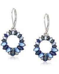 Napier - Blue Multicolored Drop Earrings - Lyst