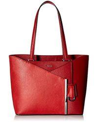 Calvin Klein - Mara Saffiano Leather And Mystic Snake East/west Tote - Lyst