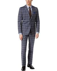 Ben Sherman - Two Button Slim Fit Plaid Suit - Lyst