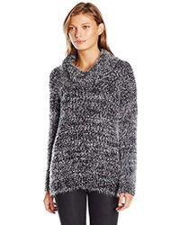 Calvin Klein - Eyelash Cowl-neck Sweater - Lyst