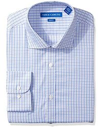 Vince Camuto - Slim Fit Sateen Check Dress Shirt - Lyst