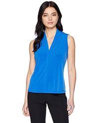 Calvin Klein - Petite Solid V-neck Top - Lyst