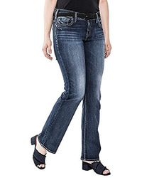 Perry Ellis - Plus Size Suki Curvy Fit Mid Rise Slim Bootcut Jeans - Lyst