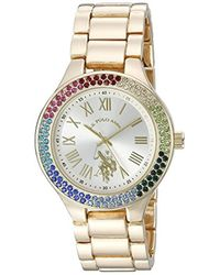 U.S. POLO ASSN. - Quartz Metal And Alloy Casual Watch, Color:gold-toned (model: Usc40128) - Lyst