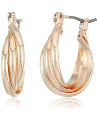 Kenneth Cole - S Trinity Small Rings Twisted Hoop Earrings - Lyst