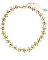 Anne Klein - Gold Tone Pearl Necklace - Lyst