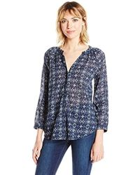 PAIGE - Sammy Top-dark Ink Blue/mineral Grey - Lyst