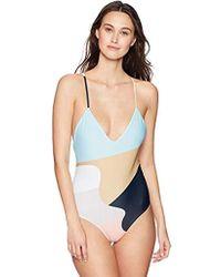 8252141e061 Mara Hoffman - Emma Cross Back One Piece Swimsuit - Lyst
