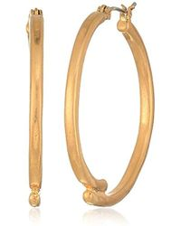 The Sak - Large Overlap Gold Hoop Earrings - Lyst
