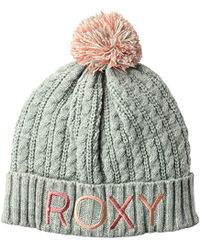 66bb90548f3 Lyst - Roxy Snow Junior s Love And Snow Beanie in Gray