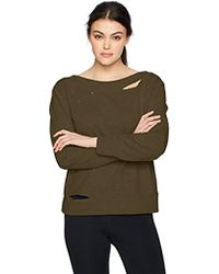 Sam Edelman - Boatneck Sweatshirt W/rips - Lyst