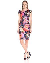 Betsey Johnson - Bouquet Floral Midi Dress - Lyst