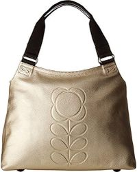Orla Kiely - Embossed Flower Stem Leather Classic Zip Shoulder - Lyst