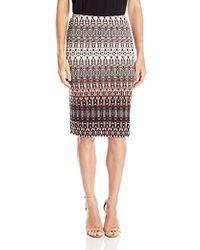 Rafaella - Missy Gradient Texture Printed Skirt - Lyst