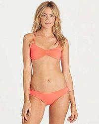 Billabong - Sol Searcher Crossback Bikini Top - Lyst