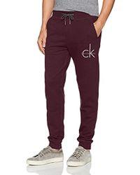 Calvin Klein - Jeans Ck Logo Sweatpant, Spiced Currant, X-large - Lyst