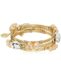 Jessica Simpson - Set Of 3 Stone Wrapped Bangle Bracelet - Lyst