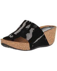 463437fc748 Lyst - Donald J Pliner Ginie Wedge Sandals in Black