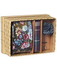 Original Penguin - 3-piece Floral Tie, Pocket Square & Lapel Pin Box - Lyst