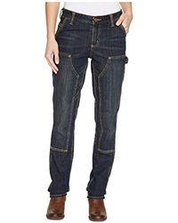 Carhartt - Petite Slim Fit Double Front Denim Dungaree - Lyst