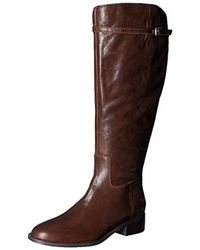 b8aabfe7b810 Lyst - Franco Sarto Tahini Riding Boots in Brown