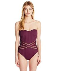 Kenneth Cole - Bandeau One Piece Swimsuit - Lyst