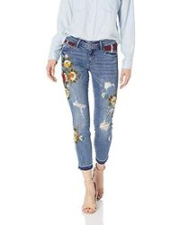 Guess - Patchwork Plaid Sexy Curve Jean - Lyst