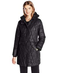 Kenneth Cole - Lightweight Diamond Quilted Coat - Lyst