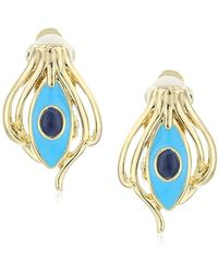 House of Harlow 1960 - Risha Turquoise Clip-on Earrings - Lyst