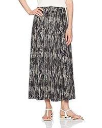 c678b70e13 TOPSHOP Split Floral Maxi Skirt in Black - Lyst