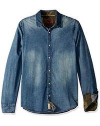 77697fee96 Lyst - Buffalo David Bitton Saflarat in Blue for Men