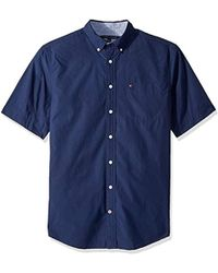 980dc995c9e5 Tommy Hilfiger - Big And Tall Button Down Short Sleeve Shirt Maxwell - Lyst