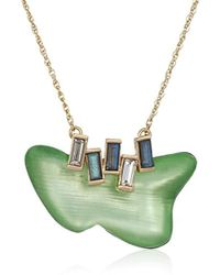 Alexis Bittar - S Dancing Baguette Freeform Drop Pendant Necklace, Sea Foam - Lyst