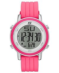 61943b0a152 Skechers - Westport Quartz Metal And Silicone Digital Watch Color  Silver