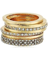 Guess - S Five-piece Dainty Stack Ring Set - Lyst