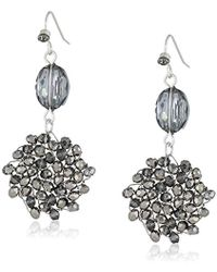 """Kenneth Cole - """"woven Item"""" Woven Faceted-bead Double Drop Earrings - Lyst"""