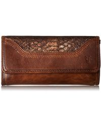 Frye - Melissa Continental Snap Leather Wallet - Lyst