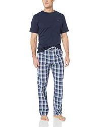 fab0171fc11 Lyst - Tommy Hilfiger Flannel Sleep Set in Blue for Men