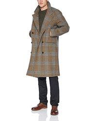Billy Reid Cashmere Double Breasted Thomas Overcoat With Leather Detail