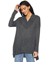 Michael Stars - Brooklyn Jersey Long Sleeve Cowl Neck Tunic, - Lyst