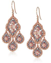 Miguel Ases - Small Quadruple Swarovski Cluster Center Contrast Drop Earrings - Lyst