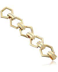 Rachel Zoe - Gavriel Gold-plated And Cubic Zirconia Link Bracelet - Lyst