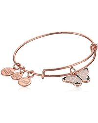 ALEX AND ANI - Color Infusion, Mon Ami Butterfly Ewb, Shiny Rose, Expandable - Lyst