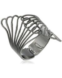 "Guess - ""basic Clam Cuff Bracelet - Lyst"