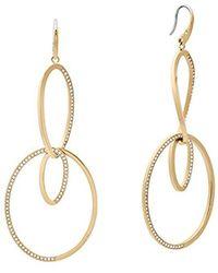 Michael Kors - S Brilliance Gold-tone Drop Earrings, One Size - Lyst