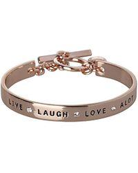 BCBGeneration - Bcbg Generation Live Laugh Love Cuff Bracelet - Lyst