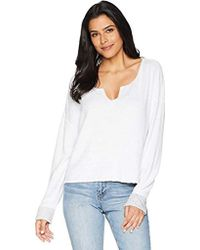 Three Dots Reversible Beach Terry Loose Short Sweater - White