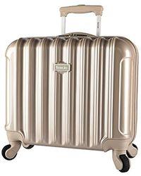 """Kensie - Light Metallic Design 16"""" Rolling Briefcase - Lyst"""